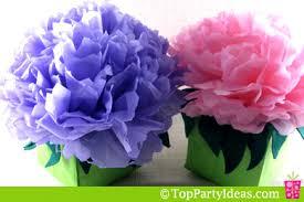 tissue flower centerpieces party decorations top party ideas