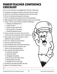 parent teacher conference checklist kindergarten ideas