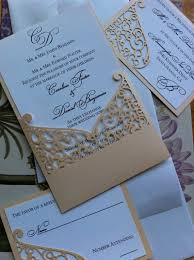 laser cut wedding programs lasercut wedding invitation sleeve pocket swirl