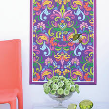 colorful baroque wall panel vinyl mural wallies colorful baroque wall panel vinyl mural