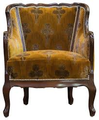 orange velvet vintage deco club chair 900 est retail 450 on