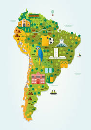map of south america in best 25 south america map ideas on country