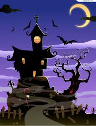 halloween scenic background 4 designer cartoon halloween castle background vector material