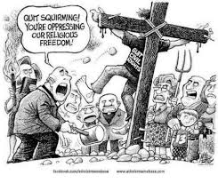 Atheist Meme Base - quit squirming youre oppressing our religious freedom