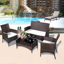 woven patio furniture patio ideas rattan patio table sets 4 pcs outdoor patio rattan