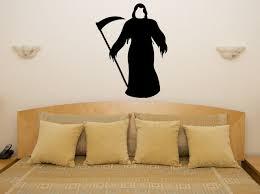 grim reaper death spooky scarey halloween bedroom decal wall art