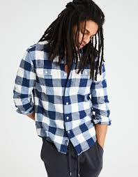 Rugged Outfitters Aeo Soft U0026 Rugged Flannel Shirt Blue American Eagle Outfitters