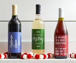 christmas wine free christmas wine bottle labels