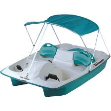 sun dolphin 5 person sun slider pedal boat with canopy walmart com