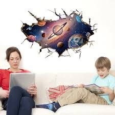 compare prices on earth wall mural online shopping buy low price 3d style fantasy space spaceship earth wall decal home sticker paper art picture diy murals kids