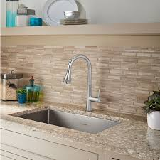 huntley pull down kitchen faucet with selectflo american standard