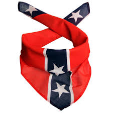 Confederate Flag Bow Tie Scarf Med Rebel Flag