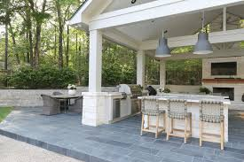 pool house outdoor kitchen and pool house project reveal