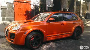 porsche orange porsche cayenne techart magnum 2003 18 september 2016 autogespot