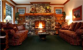 pretty fireplace design for living room come with stone fireplace