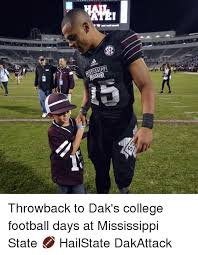 College Football Memes - mississippi throwback to dak s college football days at mississippi