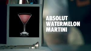 watermelon martini absolut watermelon martini drink recipe how to mix youtube