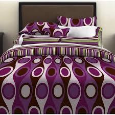 bedroom creative bedroom interior with purple comforters and