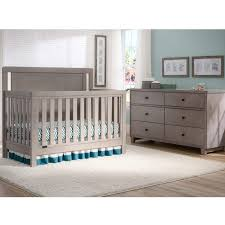 Simmons Convertible Crib Simmons Chevron Crib N More In Stained Grey Free Shipping