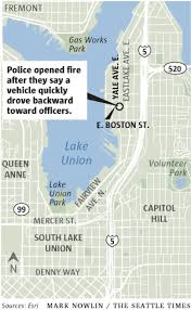seattle map eastlake seattle recover subaru fired on sunday by officers in