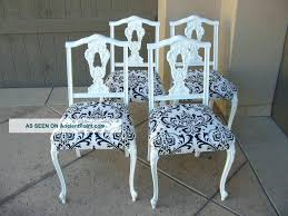 charming set of four vintage french provincial black and white