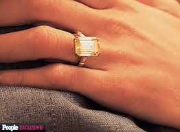 52nd wedding band amal alamuddin s engagement ring from george clooney see