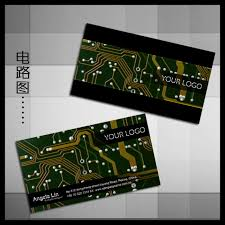 it computer electronic information technology business card psd
