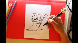 Easy To Draw Halloween by How To Draw Grim Reaper Step By Step Justin Time For Halloween