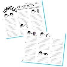 wonder palacio r j novel conflict graphic organizer 6 types of
