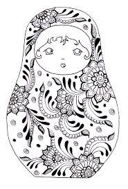 free coloring page coloring russian dolls 3 babushka u0027s