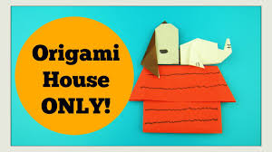 snoopy craft origami house peanuts movie paper crafts for kids