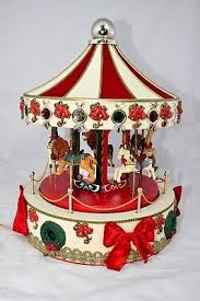 christmas carousel 16 animated musical lighted christmas carousel workshop