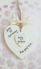 1st wedding anniversary gifts chic personalised 1st wedding anniversary gift handmade husband