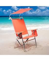 Big Beach Chair Bargains On Copa 4 Position Big Tycoon Canopy Beach Chair Orange