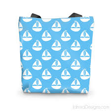 nautical tote light blue nautical tote bag jahnia designs