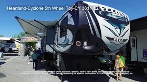 heartland cyclone 5th wheel toy cy 3611 js youtube