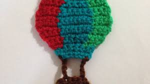 how to crochet a air balloon applique for kids diy crafts