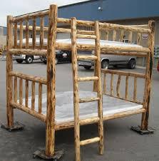 Log Beds Log Bunk Beds Cedar Log Beds Rustic Log Beds - Log bunk beds