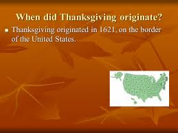 thanksgiving project part 2 ppt