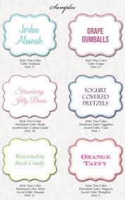 Candy Labels For Candy Buffet by Free Printable Candy Buffet Labels For The Jar Tags And A 2