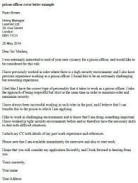 Application Letter For Applying As Prison Officer Cover Letter Exle Learnist Org