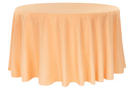 120 round tablecloth fits what size table polyester 120 round tablecloth peach cv linens