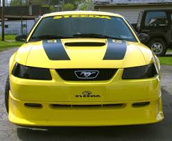 2000 Ford Gt Zinc Yellow 2000 Ford Mustang Gt Steeda Coupe Mustangattitude