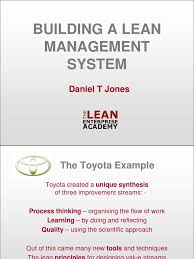 build lean management system lean manufacturing system
