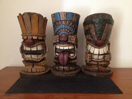 tiki bar ornaments hear no evil see no evil speak no evil