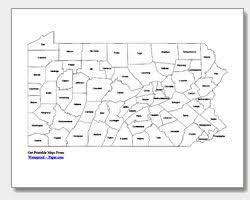 map of counties in pa printable pennsylvania maps state outline county cities