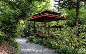 Smith Botanical Garden by Asian Style Gazebo Unc Charlotte Botanical Gardens Photograph By