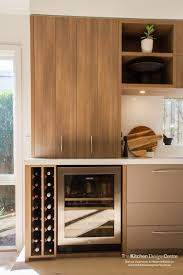 polytec sepia oak ravine kitchen storage and wine rack http www
