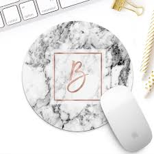 Marble Desk Accessories Gold Marble Monogram Mousepad For White Marble Mouse
