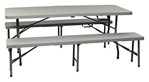 office star resin folding table amazon com office star resin 3 piece folding bench and table set 2